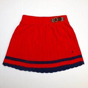 Nautica Girls 3T Red Blue knit kilt like Skirt